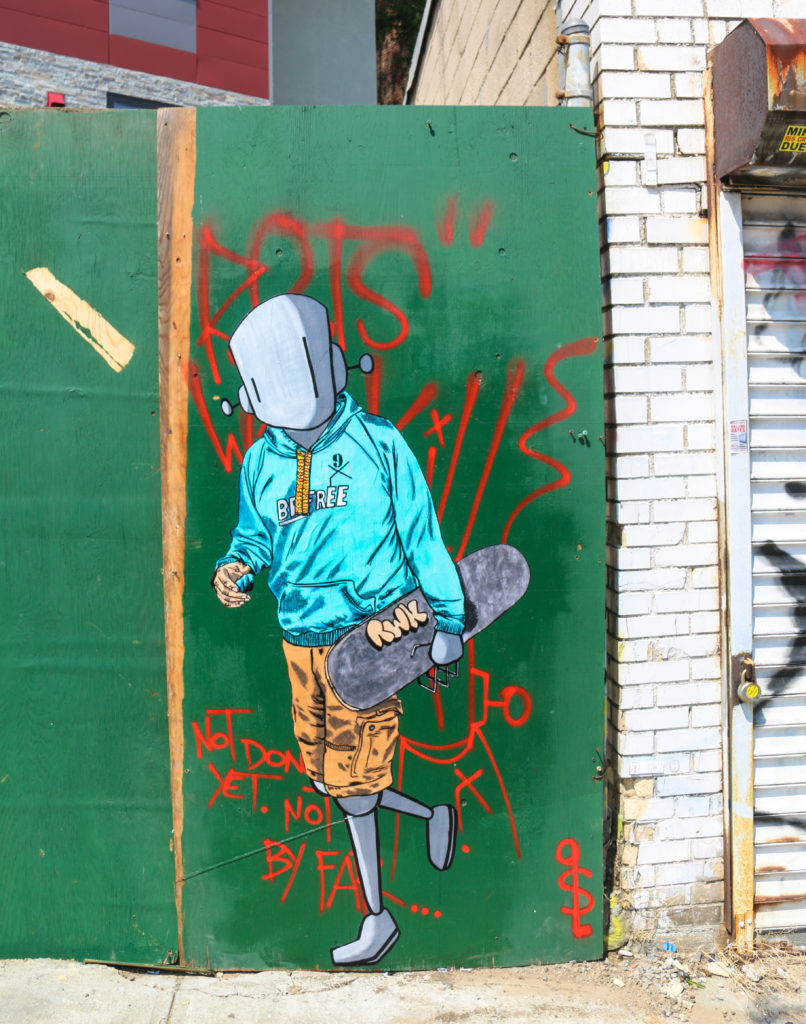 Street art by Chris RWK and Sean9Lugo at Welling Court in Astoria Queens