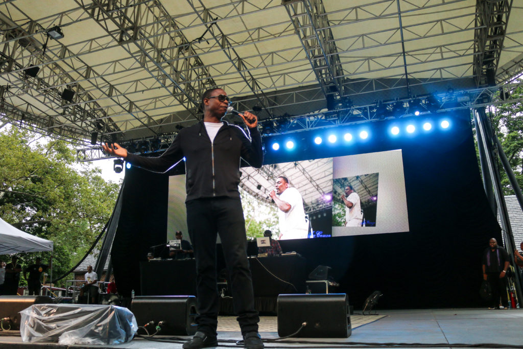 Doug E Fresh at the Rock Steady Crew 39th Anniversary show in Central Park