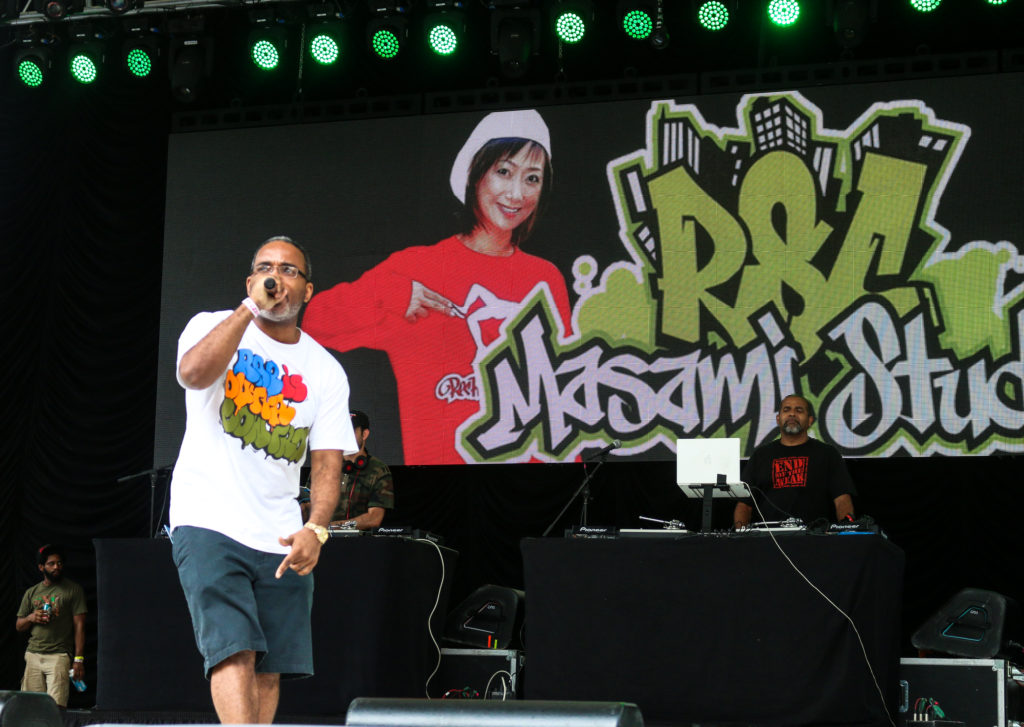 Large Professor at the Rock Steady Crew 39th Anniversary show in Central Park