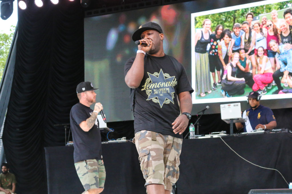 OC and Apathy at the Rock Steady Crew 39th Anniversary show in Central Park