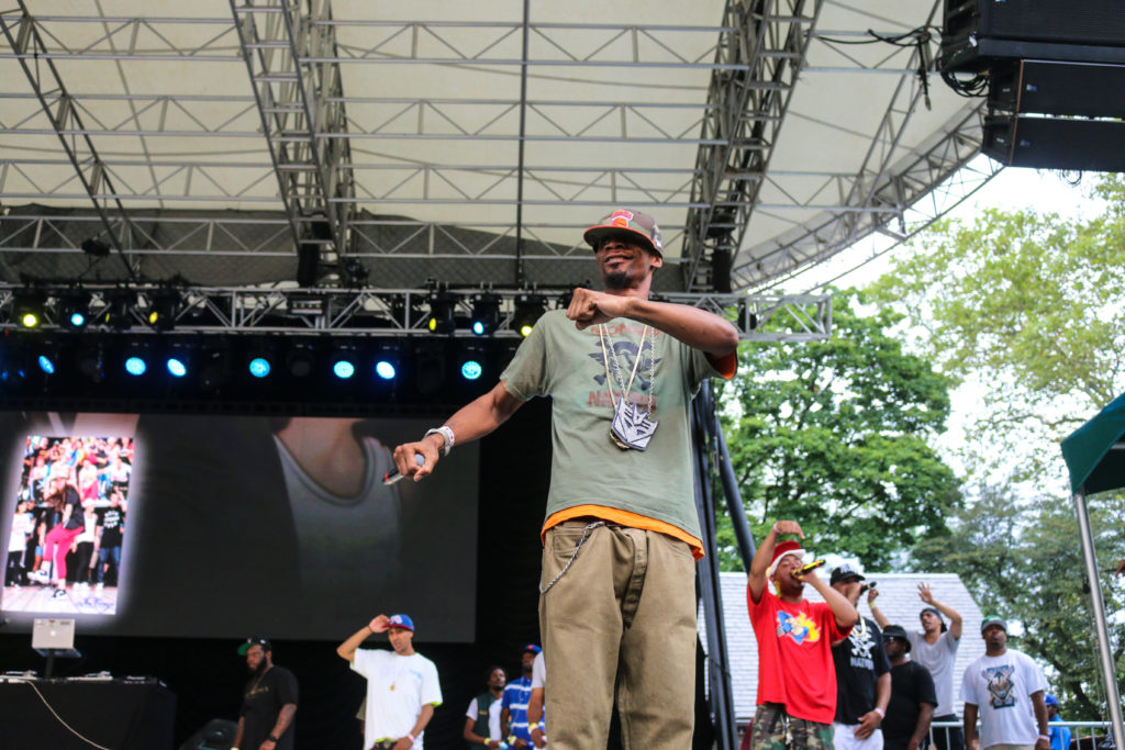 Rock from Heltah Skeltah at the Rock Steady Crew 39th Anniversary show in Central Park