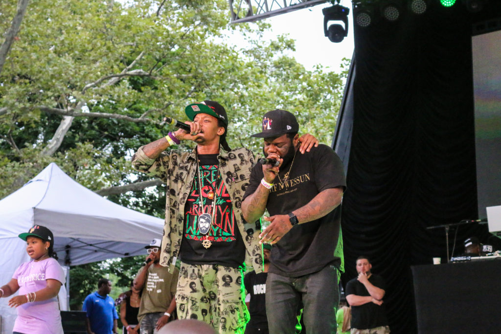Smif-N-Wessun at the Rock Steady Crew 39th Anniversary show in Central Park