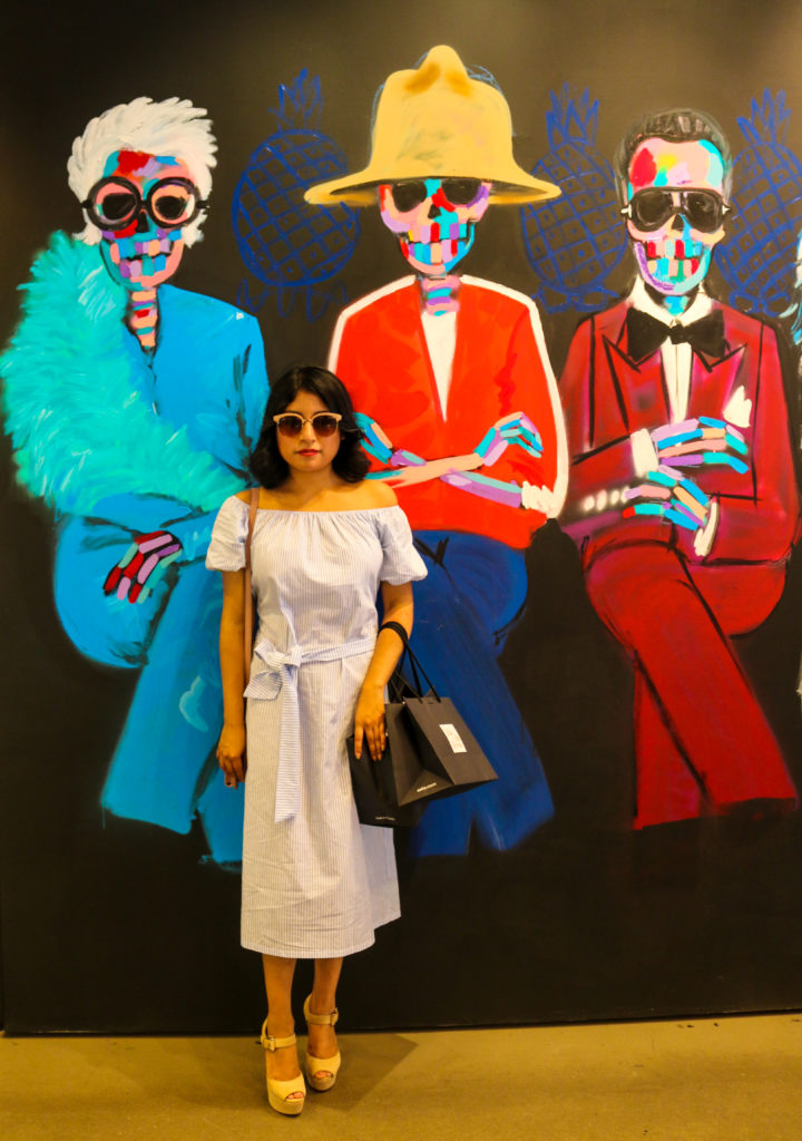 Bradley Theodore mural at the Shops at NYFW