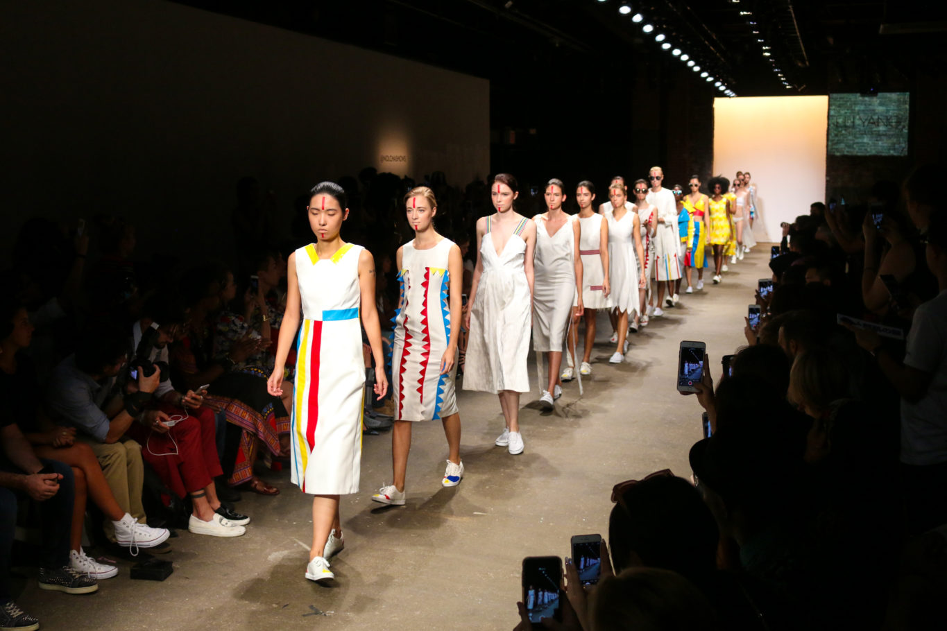 Runway models at New York Fashion Week