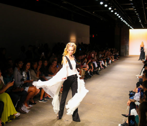 Runway model at New York Fashion Week